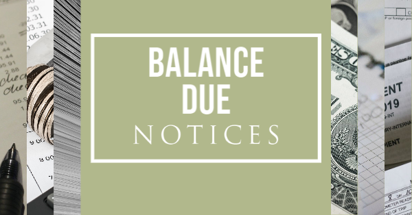 Balance Due Notices