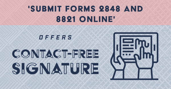 'Submit Forms 2848 And 8821 Online' Offers Contact-Free Signature